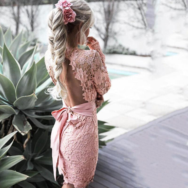 Cataline Lace Fringe Dress