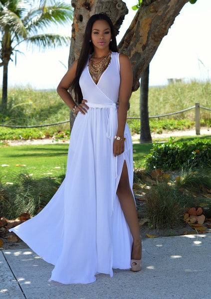Belle - Elegant Sleeveless Maxi Dress