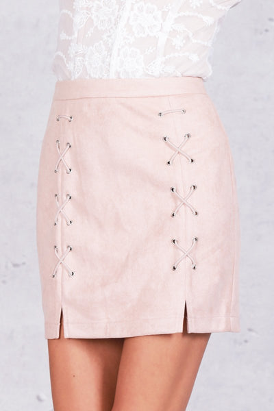 Cross - Lace Up Skirt