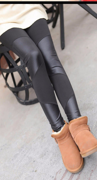 Sala - Leather Slash Leggings