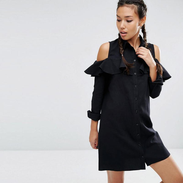 Off-Shoulder Ruffle Dress