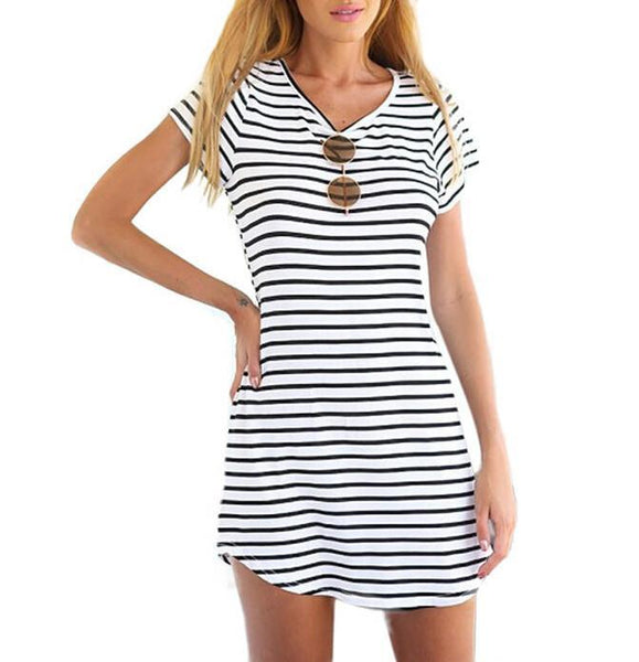 Striped Beach Sundress