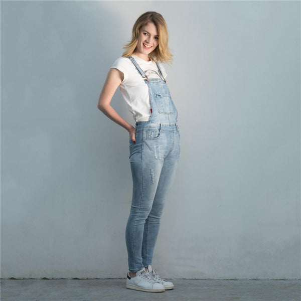 Distressed Overalls Jumpsuit