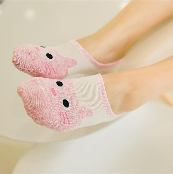 Cute Cat Ankle Socks