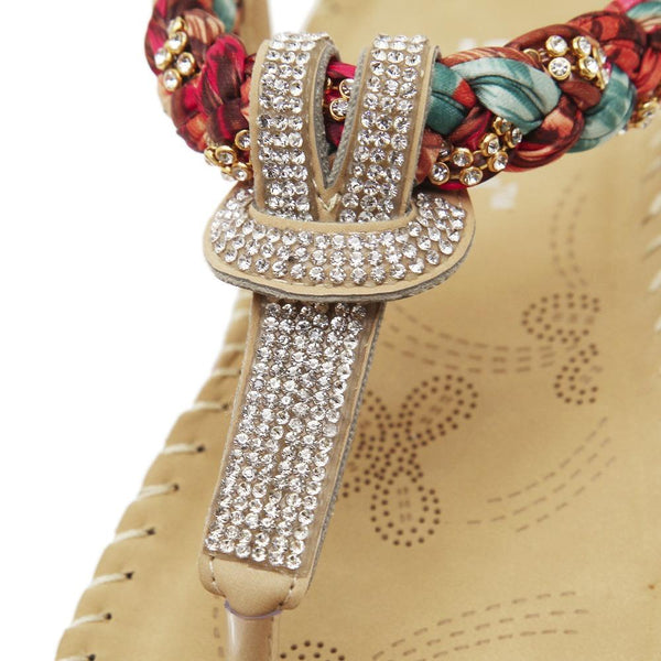 Thea - Jewel T Strap Boho Sandals