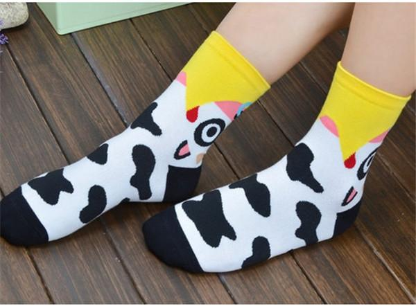 Bright Cartoon Animal Socks