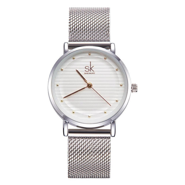Modern Mesh Band Watch