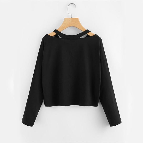 Trinity - Cut Out Long Sleeve T-Shirt