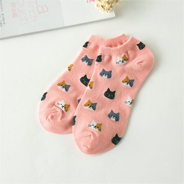 Cat Pattern Socks