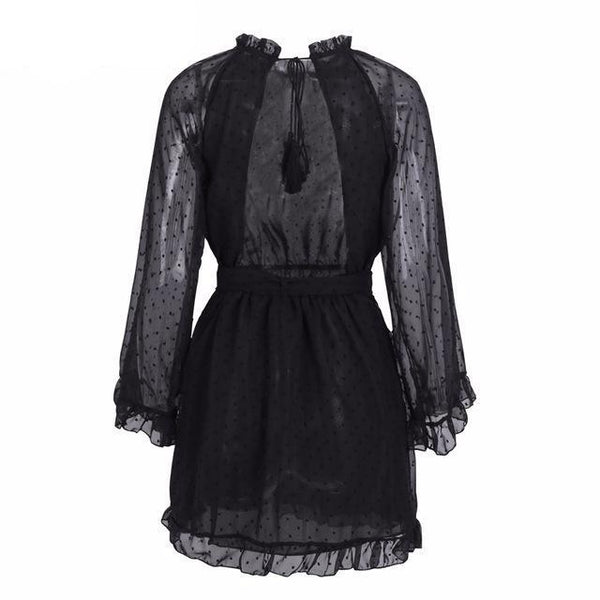 Felis - Lace Backless Dress