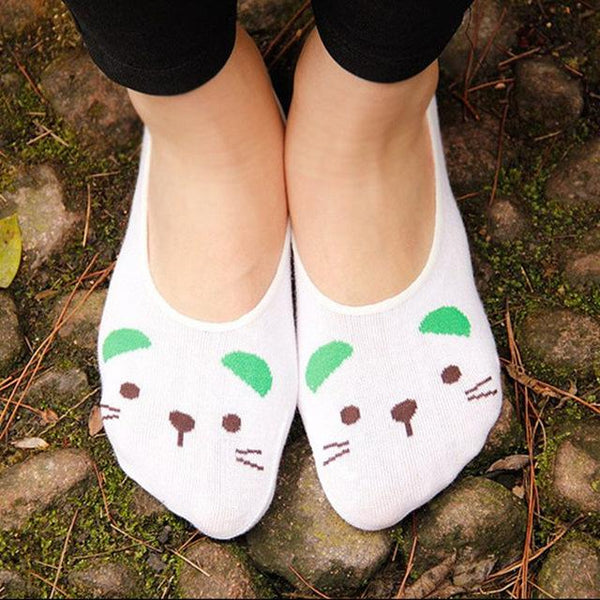 Animal Face Low Cut Ankle Socks