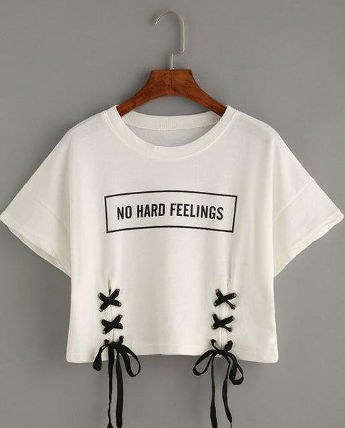 No Hard Feelings Crop Tee
