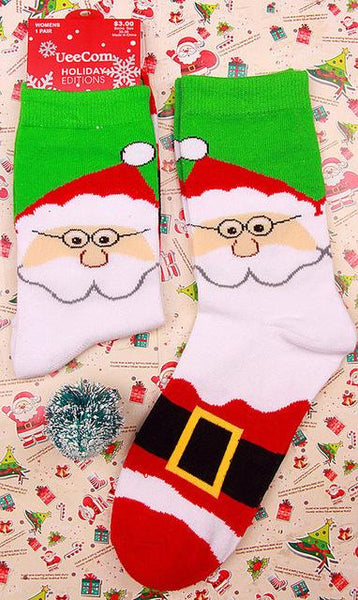 Cheerful Cartoon Christmas Socks