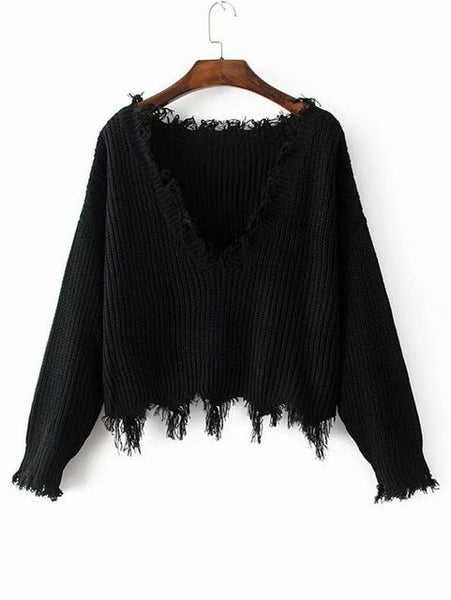 Pris - Loose V-Neck Sweater