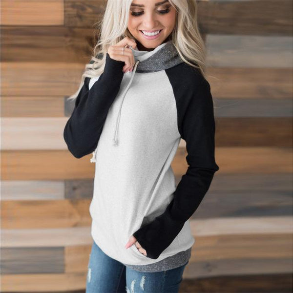 Heaven - Oversized Patchwork Hooded Sweater