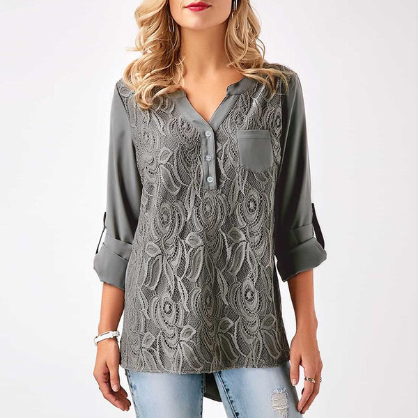 Addison - Casual Lace Blouse