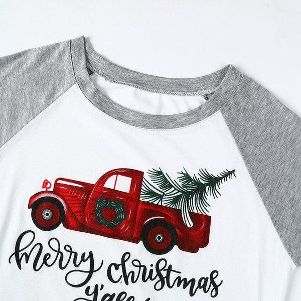 Merry Christmas Y'all! O-Neck Baseball Tee