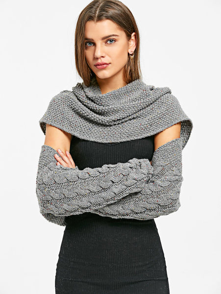 Jolie - Convertible Collar Knitted Pullover Sweater