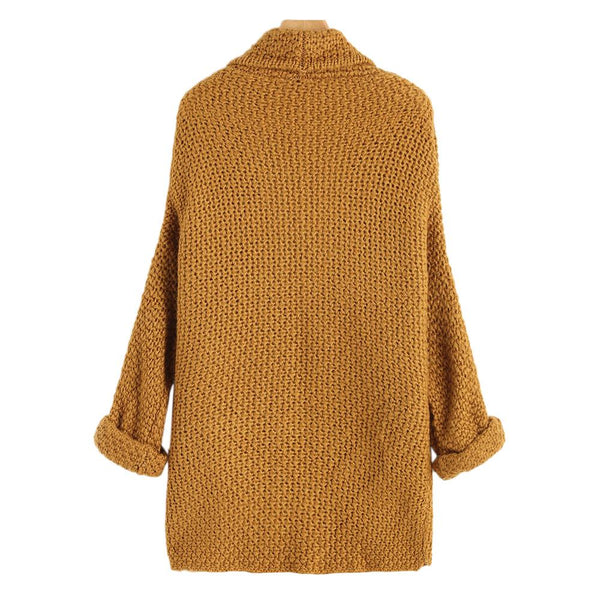 Mali - Batwing Curled Sleeve Cardigan with Pockets