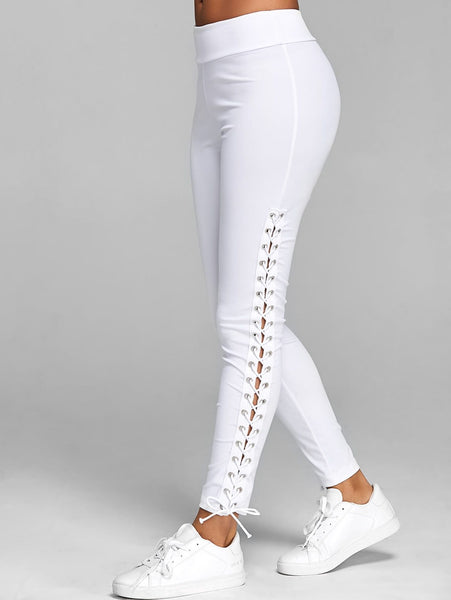 Ophelia - Side Leg Lace Up Leggings