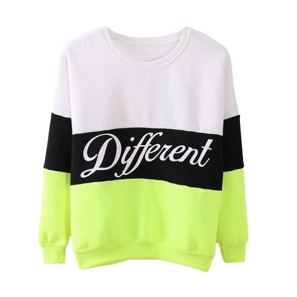 Different - Block Color Pullover Sweatshirt