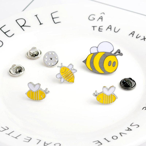 4 Piece Bee Brooch Pins