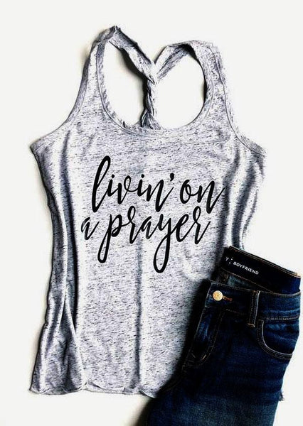 Livin' On A Prayer Twist Bank Tank Top