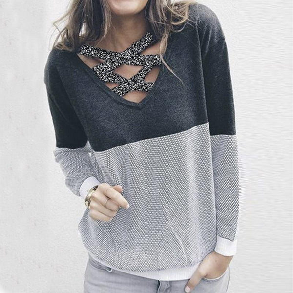 Criss-Cross Knit Sweater