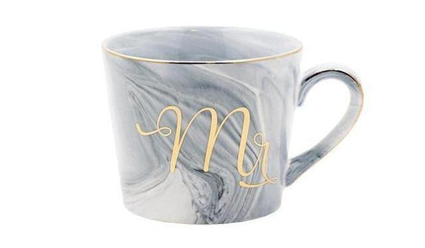Marble Porcelain Mr & Mrs Coffee Mugs