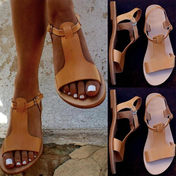 Elena - Soft PU Leather Gladiator Sandals