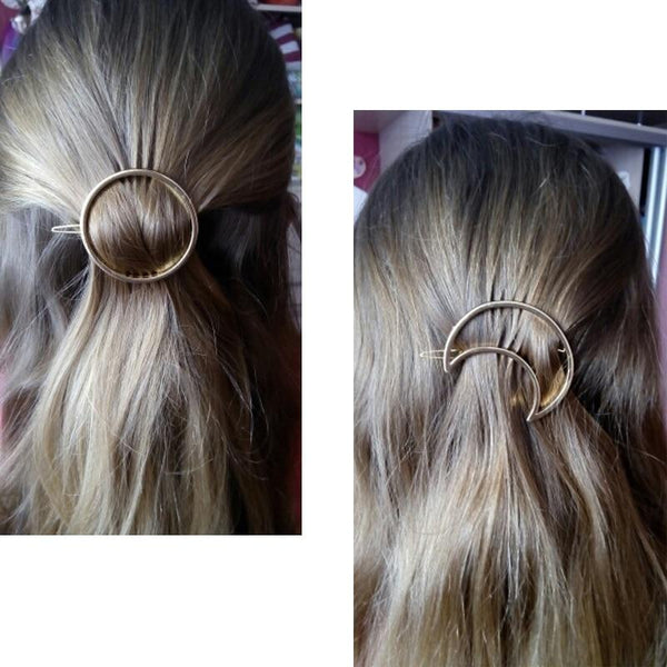Geometric Shape Metal Hair Clips