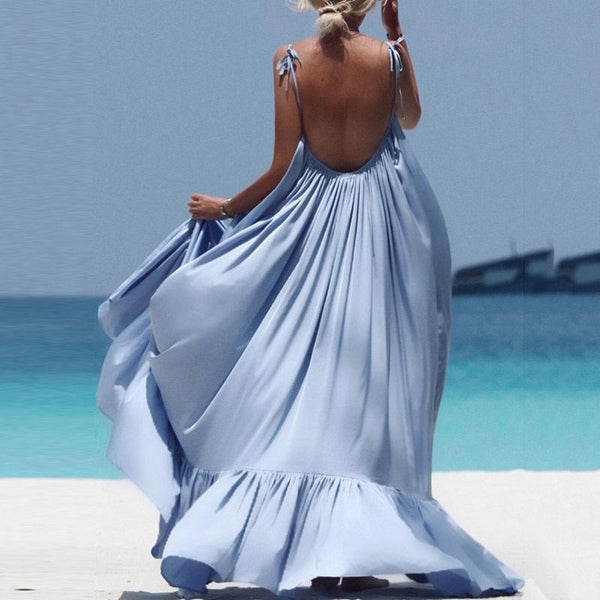 Juliet - Backless Boho Maxi Dress