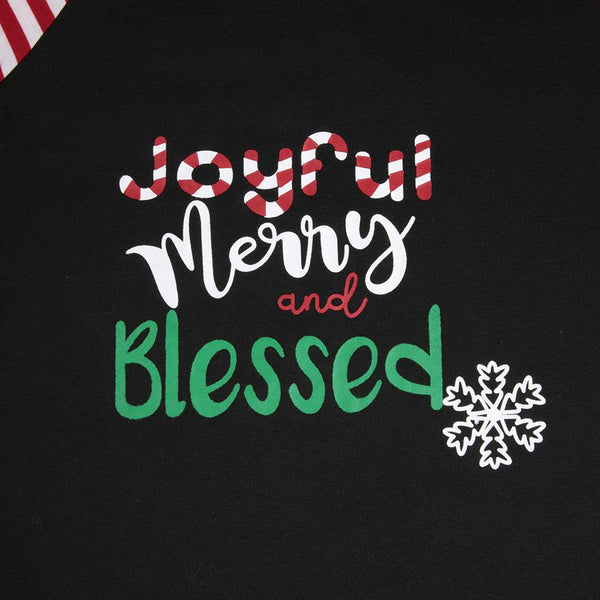 Joyful, Merry & Blessed Christmas Top