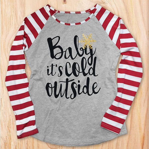 Baby It's Cold Outside Pullover Top
