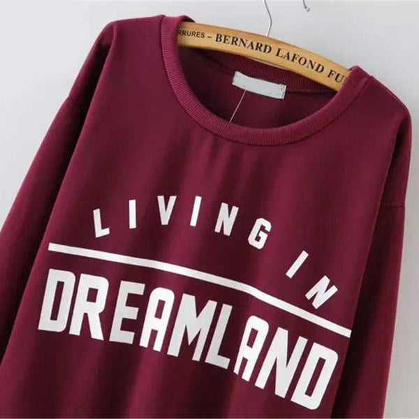 Living in Dreamland Jersey Sweatshirt