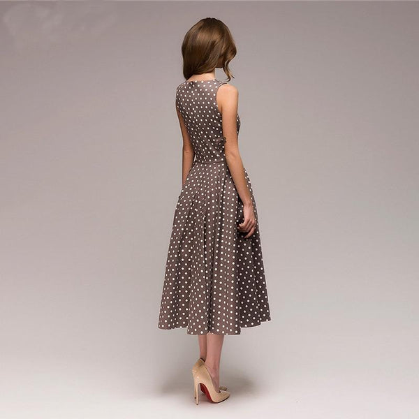 Georgia - Vintage Polka Dot A-Line Dress