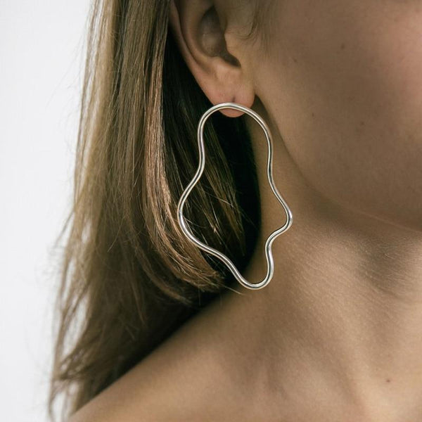 Keva - Irregular Drop Hoop Earring