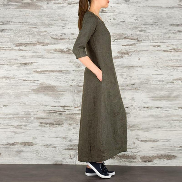 Oversized Button Maxi Shirt Dress