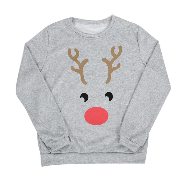 Reindeer Face Pullover Sweater