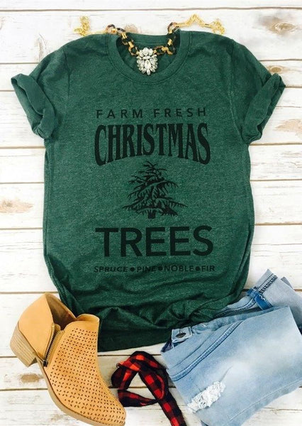 Farm Fresh Christmas Trees Holiday Tee