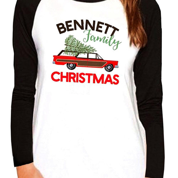 Bennett Family Christmas Long Sleeve Baseball Tee