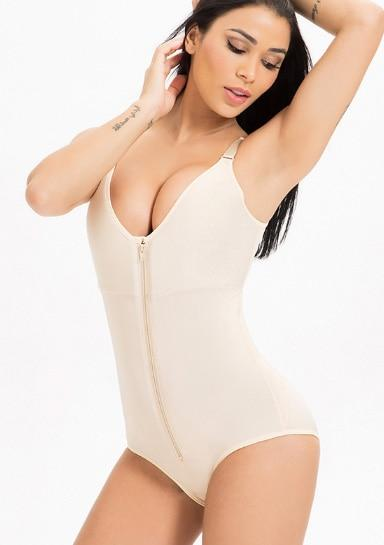 Ginnie - Zip Shapewear Body Suit