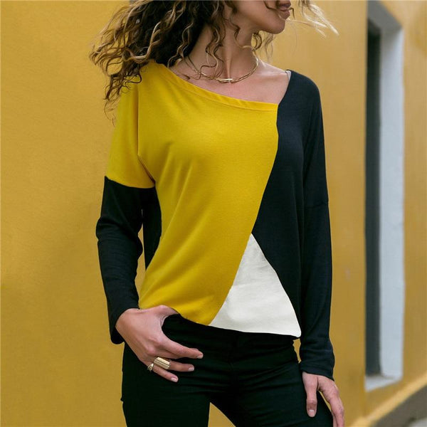 Tallie - Open Neck Long Sleeve Blouse