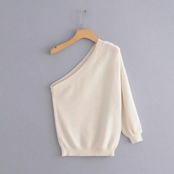 Zadie - One Shoulder Pullover Sweater