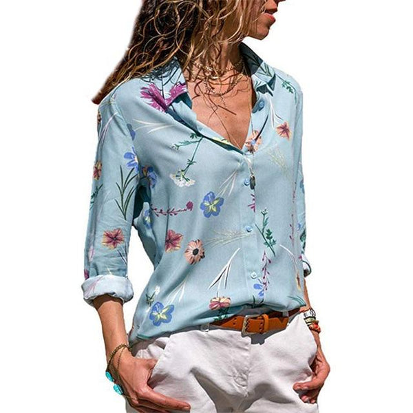 Safiya - Button down Floral Blouse