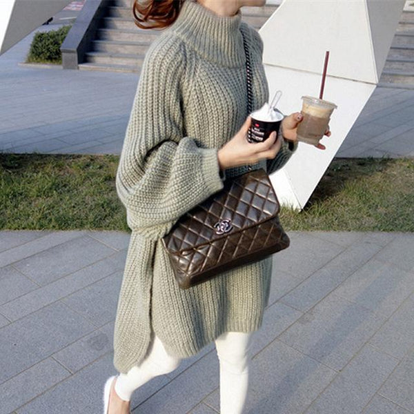 Arianna - Turtleneck Knitted Sweater