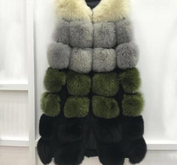 Rory - Faux Fur Long Vest