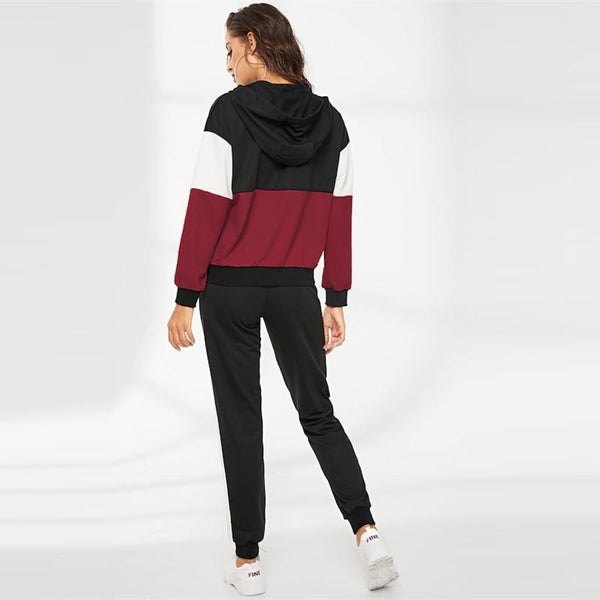 Samantha - Two Piece Zip Hoodie & Tracksuit Pants