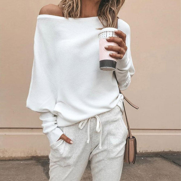 Harper - Off Shoulder Batwing Sweater