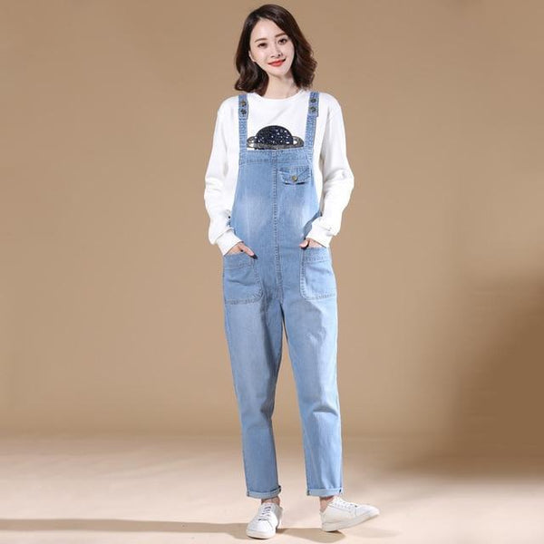 Manda - Loose Fit Denim Overalls